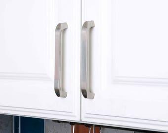 Set of 4pcs Drawer Handle Steel JP2024-Silver Door Knob Handle Pull for Cupboard Cabinet Drawer