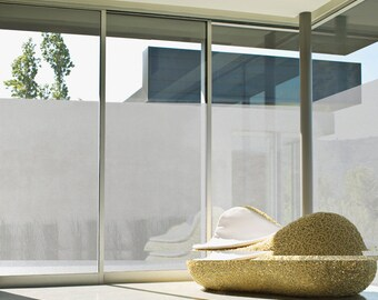 Peel and Stick No Glue Static Window Film Decorative Glass Privacy Film UV Block Frost White 32001 : 100cm(3.28 Feet) X 180cm(5.90 Feet)