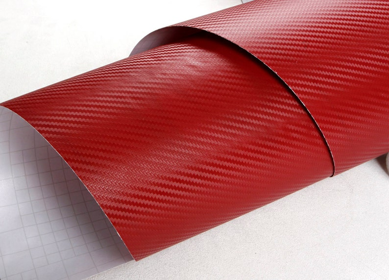 Dark Red : 50cm X 300cm Peel /& Stick Carbon Pattern Pre-Pasted Self-adhesive Wallpaper 1.64ft 9.84ft