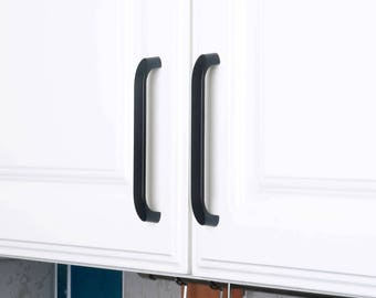 Set of 4pcs Drawer Handle Steel JP2024-Black Door Knob Handle Pull for Cupboard Cabinet Drawer