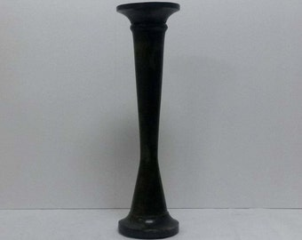 Set of 2.Candle holder natural, wood,dark brown finish,tall,,wooden Pillar candle holder.