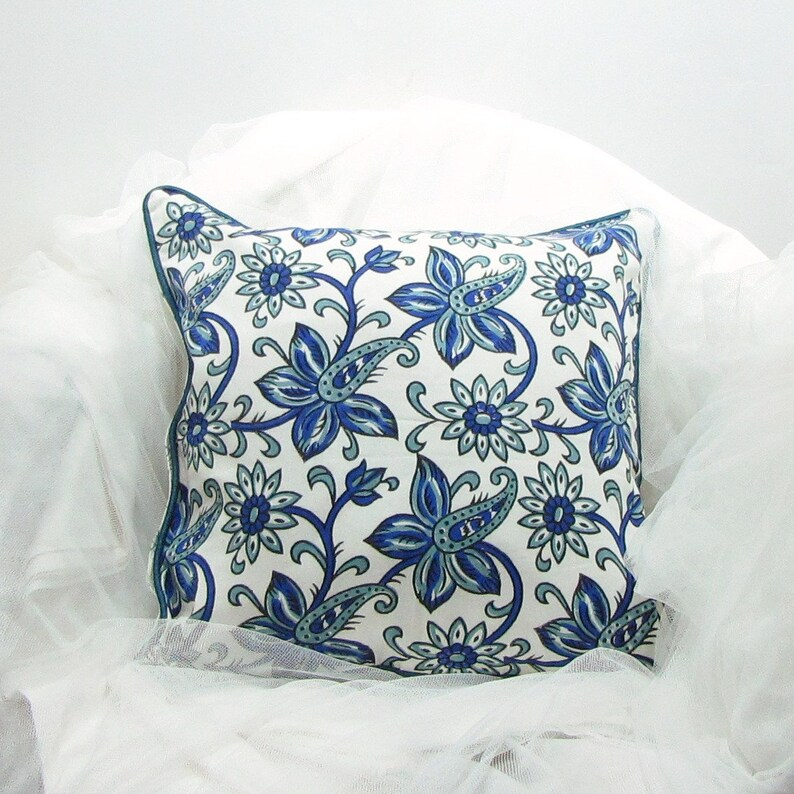 Cushion Throw Pillow Covers Block Print Cottonfloral Etsy