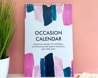 Birthday Calendar - Abstract - Perpetual Occasion Calendar