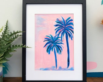 Palm Tree Print - Tropical Colourful Palms Art Print