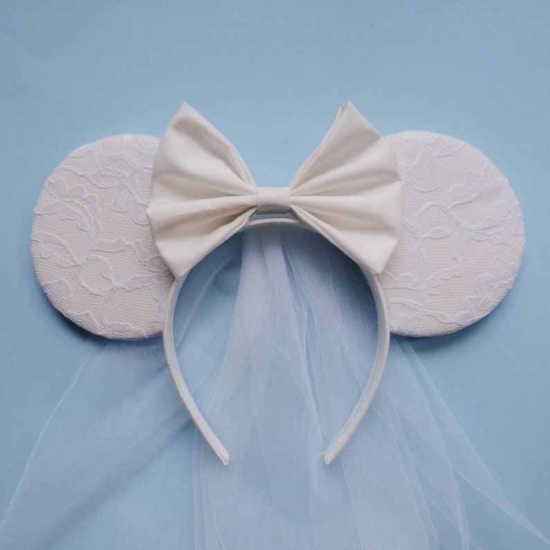 Bridal Mickey Ears Bridal Minnie Ears Bridal Disney Ears  fa57bd3cb9b