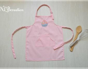 Child apron - pink Cupcake