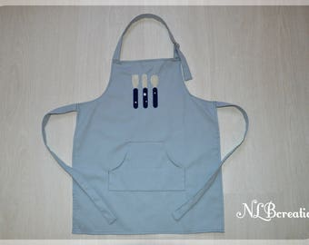 Cooking apron child - covered blue