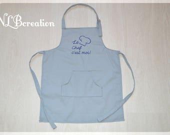 Child apron - it's me the head! Blue