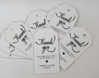 Thank You For Sharing Our First Meal Personalised Wedding Tags