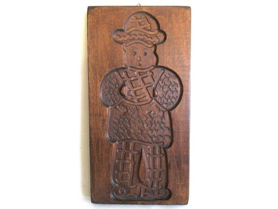 Moule à biscuit en bois. Moule à biscuit en bois Art populaire néerlandais. planche de spéculoos, springerle. N ° 6AFG7FK1