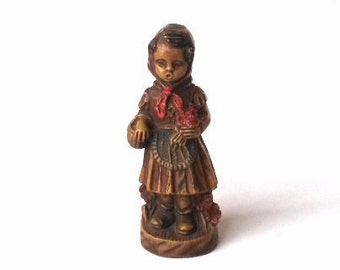 Little Red Riding Hood Figurine. Antique collectible Little Red Riding Hood Figurine #5E8G1F4K48