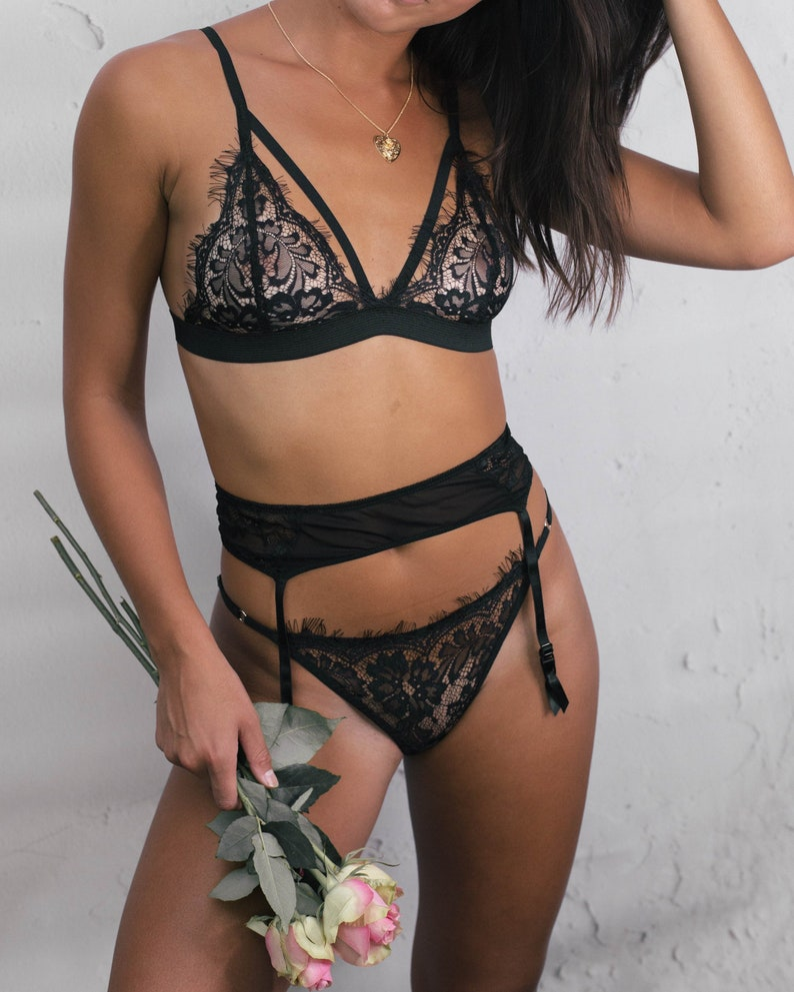 2f88846ee Strappy Harness Bra Luxury Handmade Lingerie Boudoir