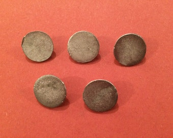 Living History - Re-Enactment Costume 5 Pack 15mm Star Style Pewter Button