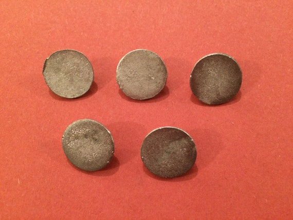 Costume 15mm Flat Copper Buttons 5 Pack - Re-Enactment Living History