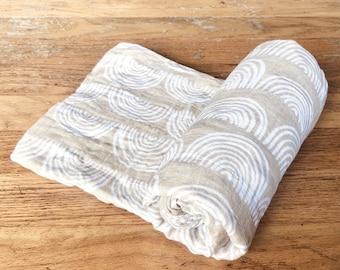 Neutral Beige Rainbow Organic Bamboo Muslin Baby Swaddle Blanket