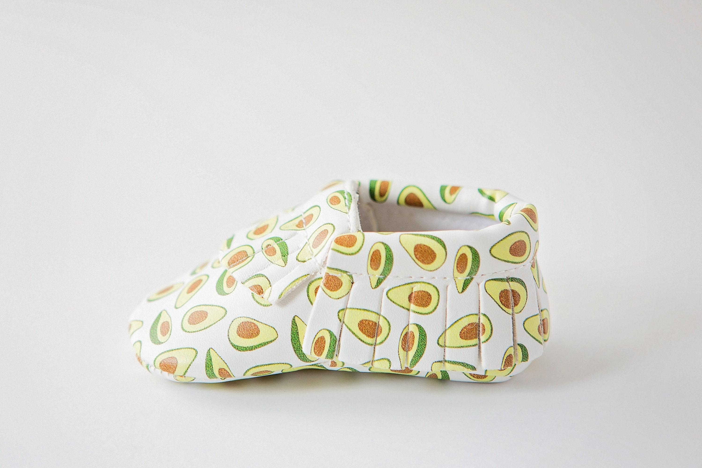 Avocado MoonBaby Organics Vegan Baby Moccasin