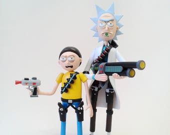 Rick and Morty figurines Morty figurine Rick Sanchez figurine from Rick and Morty cartoon Rick figure Morty Figure
