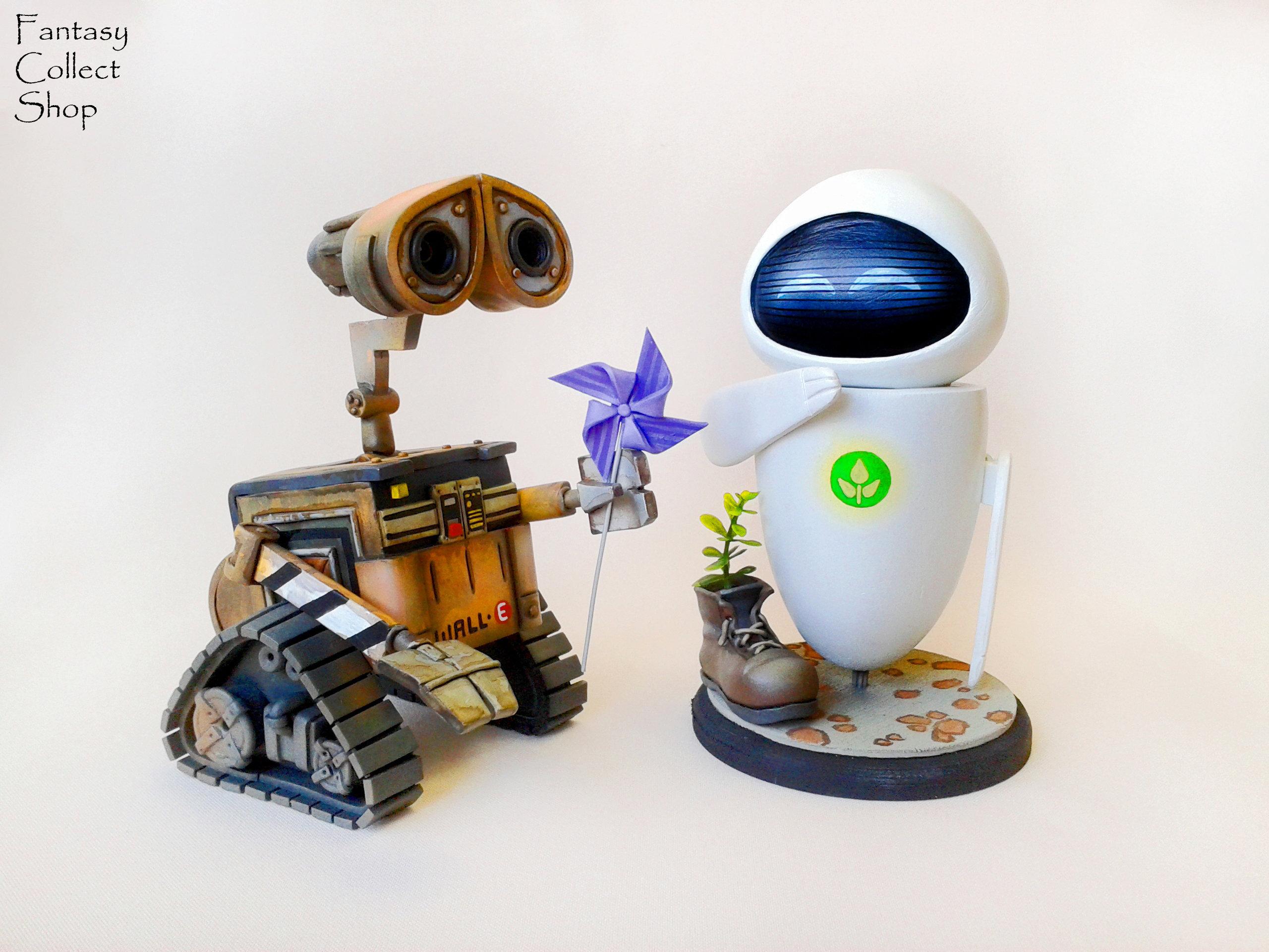 Roboter Wall-E Figur Eva Eve Figur Walle Wallie Wall-E Cartoon | Etsy