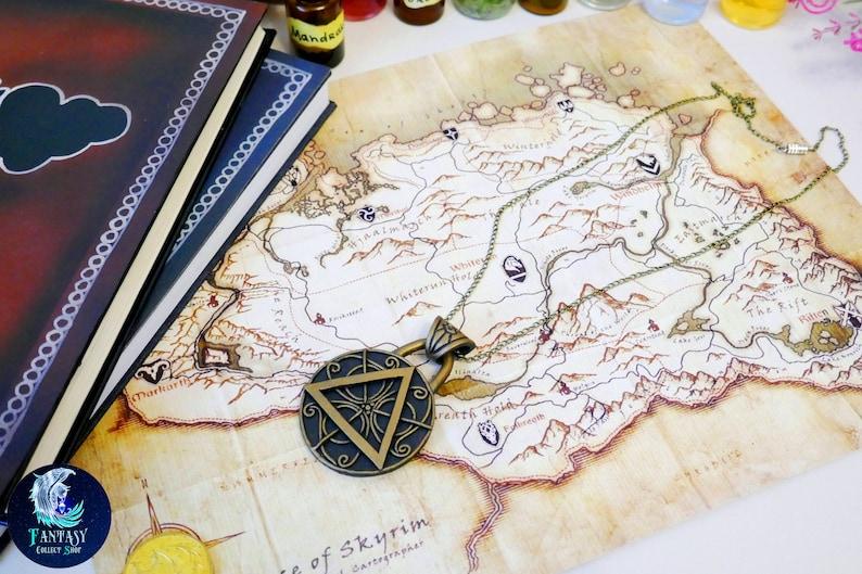Amulet of Julianos The Elder Scrolls Necklace Skyrim cosplay Necklace  Oblivion Morrowind amulet Pendant Skyrim pendant Skyrim mages amulet