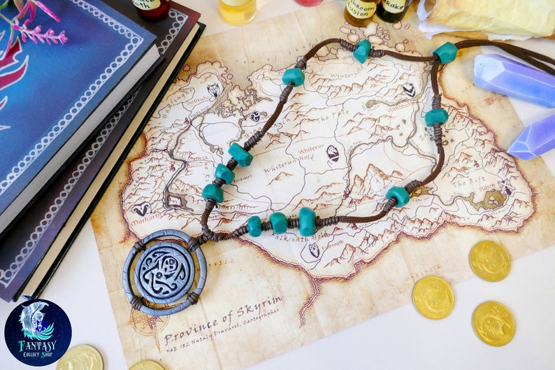 Amulet of Skaal The Elder Scrolls Necklace Skyrim cosplay Necklace Oblivion  Morrowind Bloodmoon amulet Pendant Ancient nordic amulet Nord
