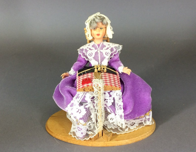 Lace Maker Doll  Vintage Travel Souvenir from Belgium image 0