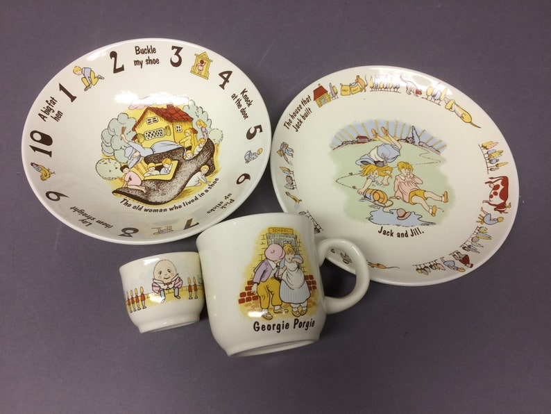 Children's Nursery Rhyme Dishes  Poole Pottery England  image 0