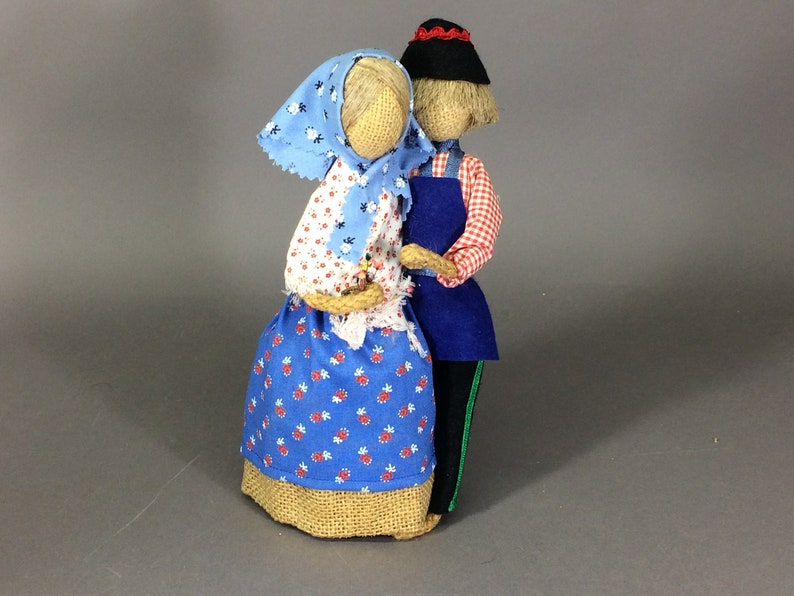 German Rupfen Puppen Dolls  Vintage Folk Art Burlap Dolls image 0