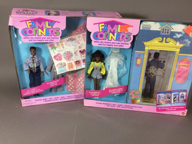 Mattel Family Corners Kurt & Nichelle Dolls MIB  Dollhouse image 0