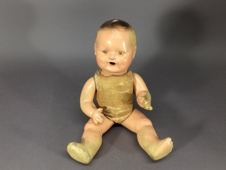 Uneeda Sweetums Composition Doll  1930s Drink and Wet Compo image 0