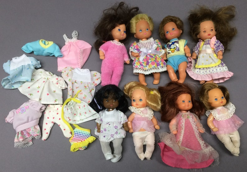Lot of Mattel Rosebud & Heart Family Baby Dolls and Clothing  image 0
