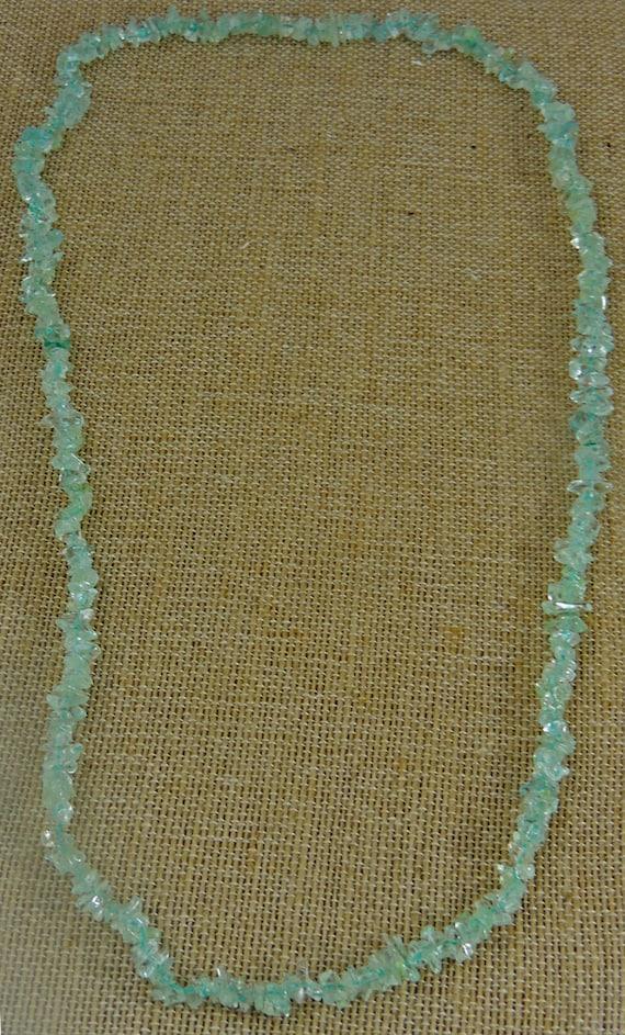 Vintage Aquamarine Gemstone Necklace -  Vintage Je