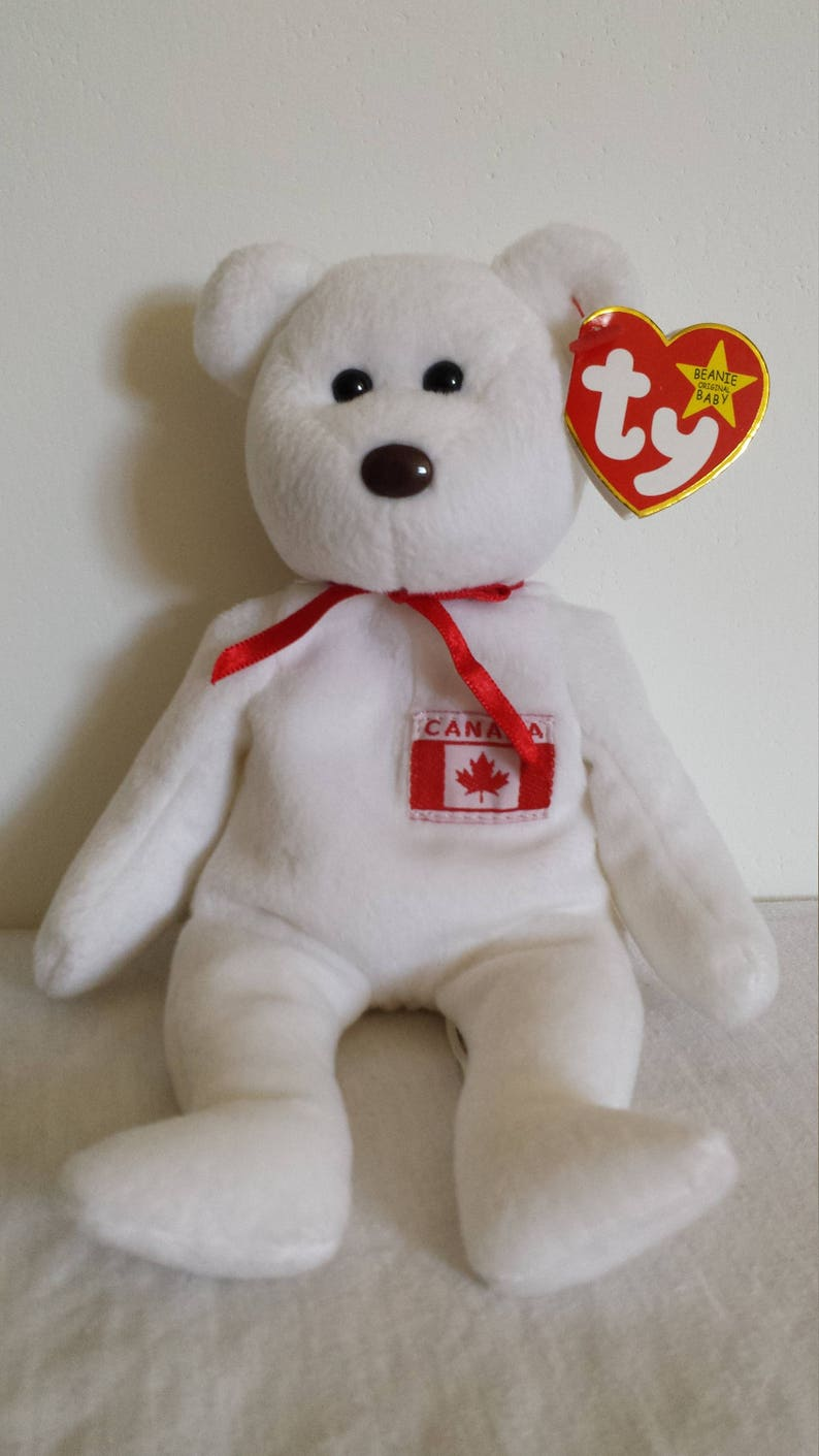 d529a4cf879 Rare Vintage Maple TY Beanie Baby Vintage Bear Toy Maple