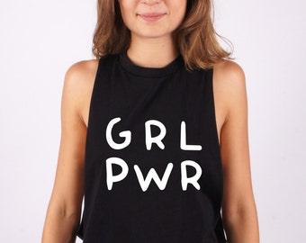 Girl power t-shirt, Girl power tee, write tee, apparel, top, tees, t-shirt, tee, dark, clothing, 100% cotton, made in Italy