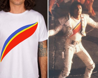 Michael jackson tee, t-shirt captain EO, moonwalker, king of pop, apparel 100% cotone, made in Italy, gift idea, love for music