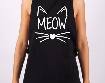 Meow t-shirt, Meow tee, apparel, top, tees, t-shit cat, cat tee, pet t-shirt, t-shirts, tops, pet, pet tee, 100% cotton, made in Italy