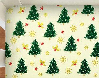 christmas crib sheet modern crib sheet christmas baby bedding christmas tree nursery decoration baby shower gift newborn gift idea