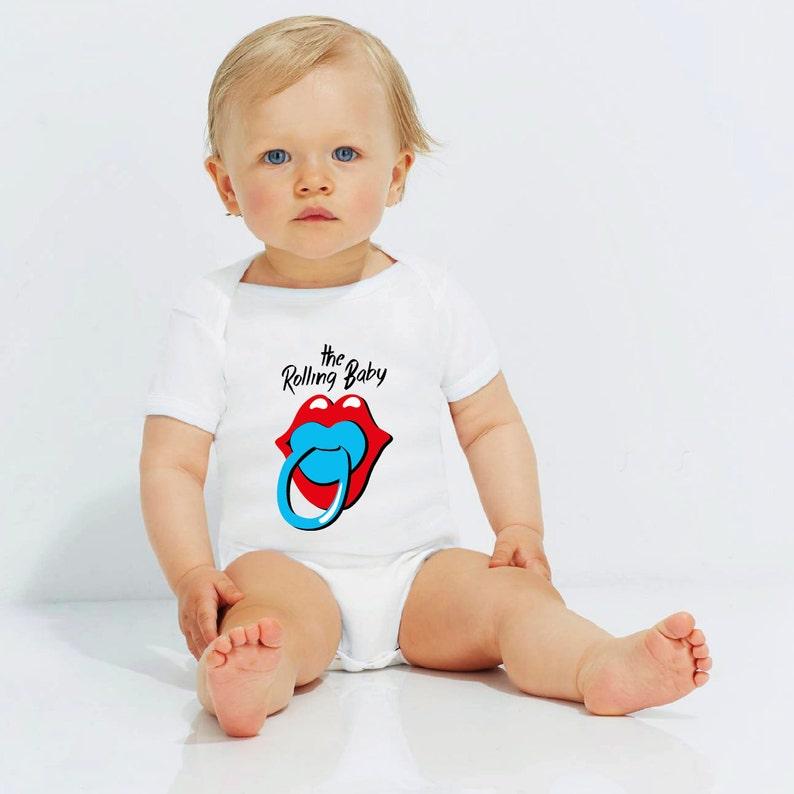 e6e25f387 The Rolling Stones Baby Organic Cotton Baby Bodysuit Cute