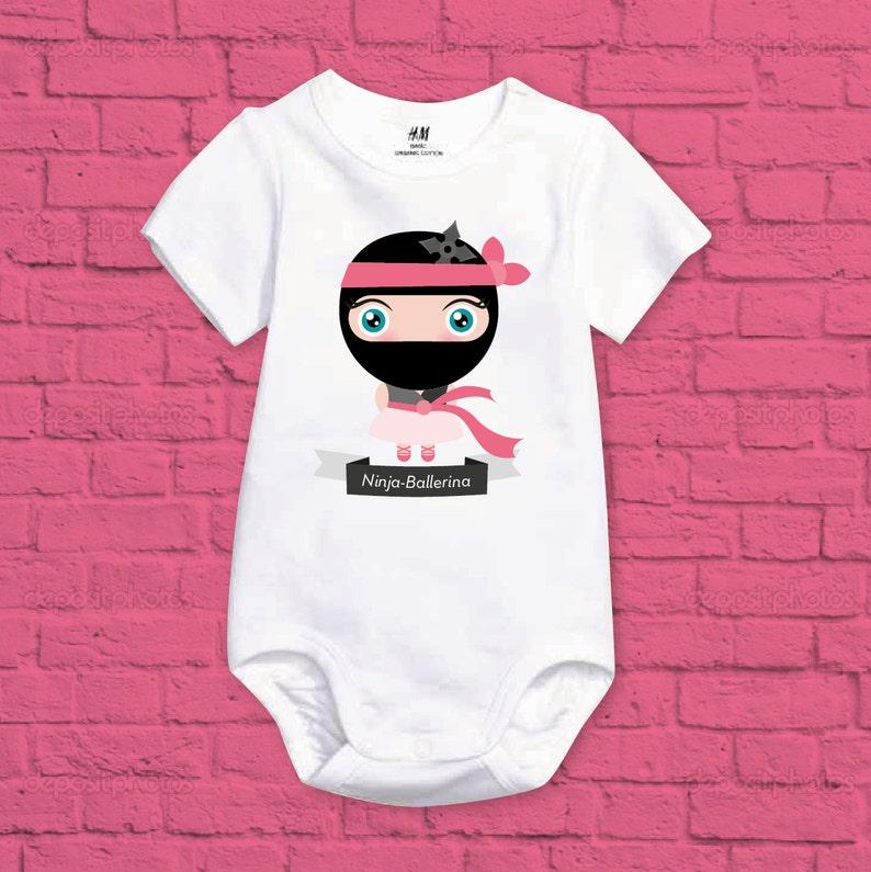 688e001146d9d Vêtements de bébé fille Ninja ballerine grenouillère Body