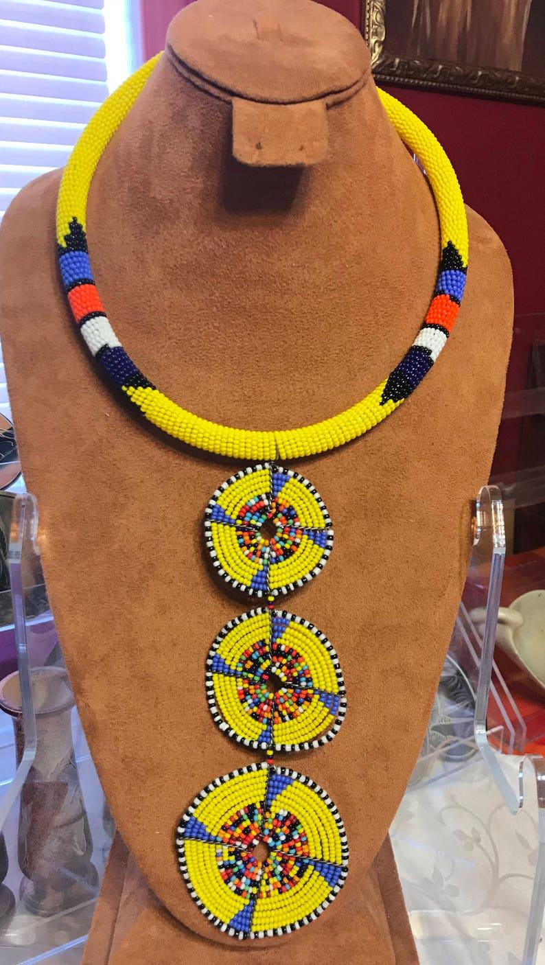 African Maasai Beaded Necklaces