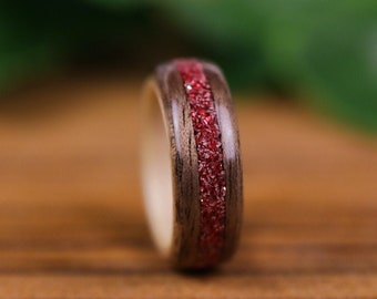 Wooden ring, Erable, Woman's Alliance, engagement ring, wooden ring, Walnut