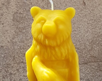 Pure Beeswax Bear Totem, Bear, Lynx, Wolf, Beeswax Candle, Alter Candle, Spiritual Candle, Handmade, Totem
