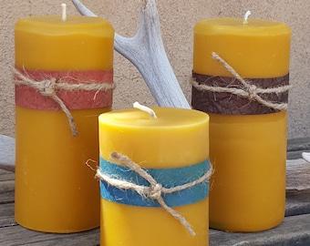 Beeswax Pillars 3x3, Pillar Candle, Beeswax Candle, 3x3 Candle, Candle, Candles, Beeswax, Handmade