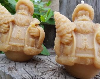 Beeswax Santa Candle, Christmas, Father Christmas, Kris Kringle, Candle, Candles, Handmade, Beeswax