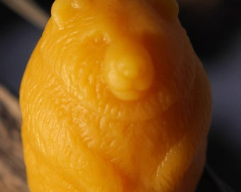 Beeswax candle, Bear, Pure Beeswax Candle, Candles, Handcrafted Beeswax Bear Candle