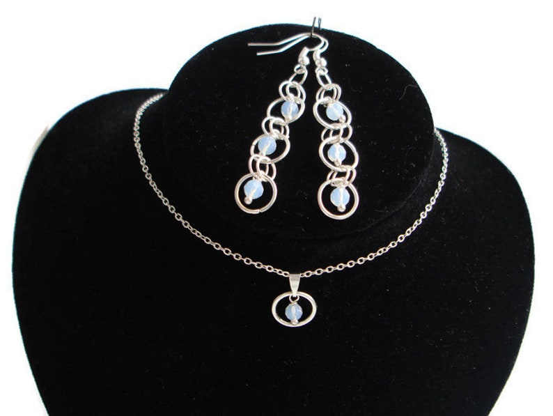 Necklace and earrings Tenderness