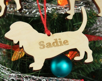Any Breed   Personalized Wooden Dog Shape Cutout Ornament   Custom Dog Christmas Ornament   Personalized Pet Ornament