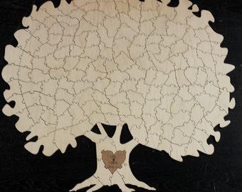 Tree Puzzle Guest Book Alternative 150pc | Wedding Guest Book | Personalized Guest Book | Unique Guest Book