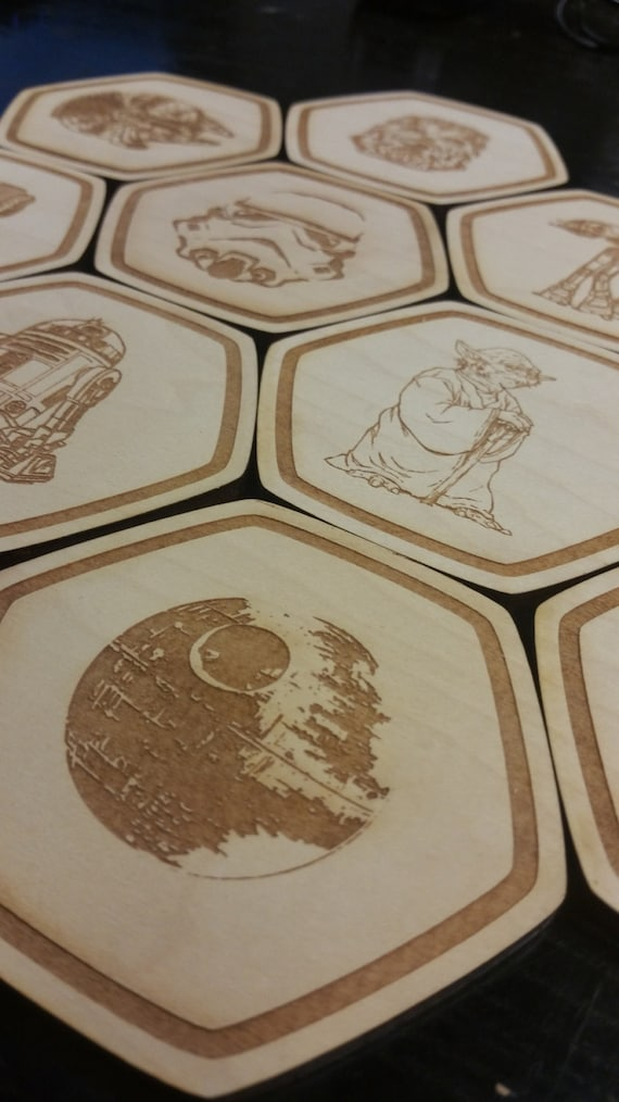 Star Wars Coasters Star Wars Party Decorations Star Wars Decor Etsy