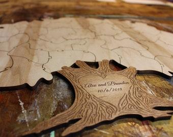 Tree Puzzle Guest Book Alternative 25pc | Wedding Guest Book | Tree Puzzle Gift | Unique Guest Book | Wedding Tree Guest Book