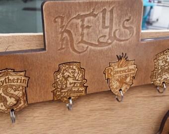 Harry Potter Wall Key Holder   Wood Key Rack   Key Holder Wall   Key Rack   Harry Potter Gift   Housewarming Gift   Harry Potter Decor